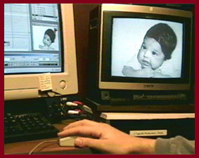 baby pic from computer to tv